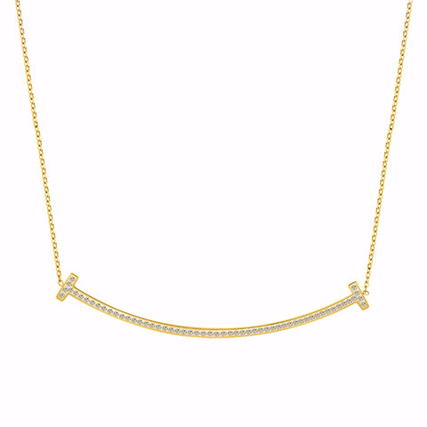 Pave Sourire Necklace