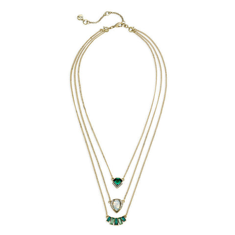 Tri Greenery Layered Necklace