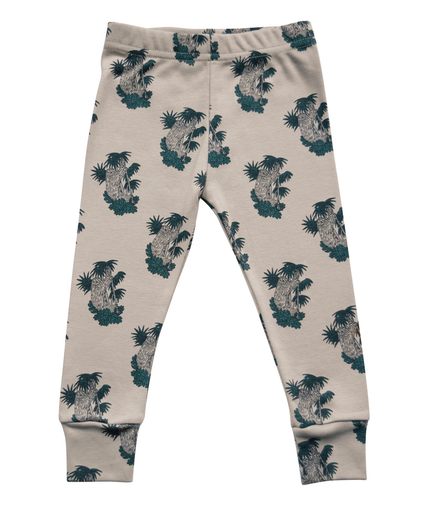 Little Kitt 100% cotton unisex neutral sloth animal leggings for babies and toddlers