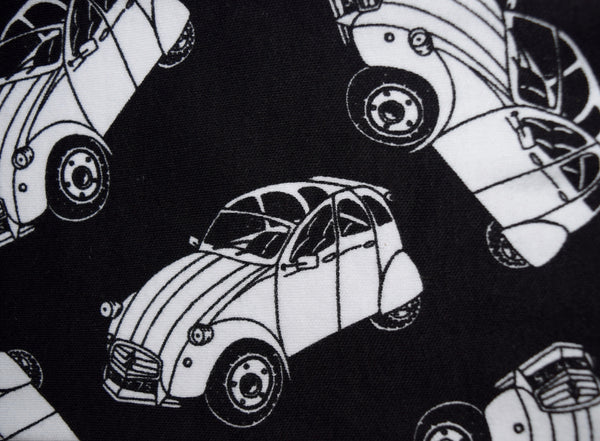 Little Kitt 100% cotton unisex monochrome 2cv car leggings for babies and toddlers
