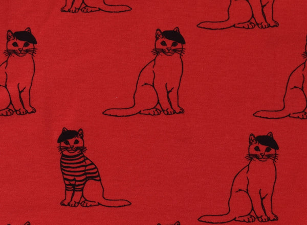 Little Kitt 100% cotton unisex red cat t-shirt for babies and toddlers