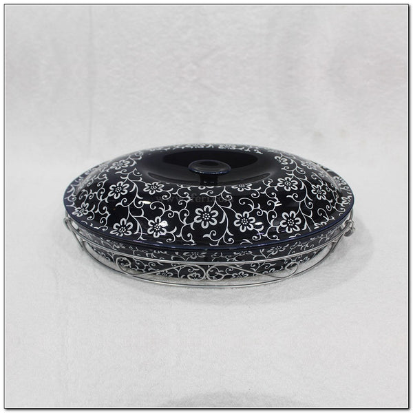 "13"" Oval Shape Single Piece Ceramic Casserole Dish BS3803"