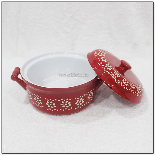 "7"" Round Shape Single Price Ceramic Casserole Dish with Lid BS5931"