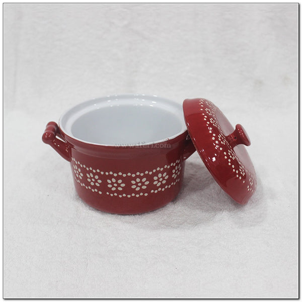 "5"" Round Shape Single Price Ceramic Casserole Dish with Lid BS5934"