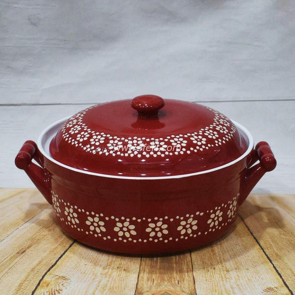 10 inch Ceramic Curry Serving Dish With Lid BS2053 - Serveware