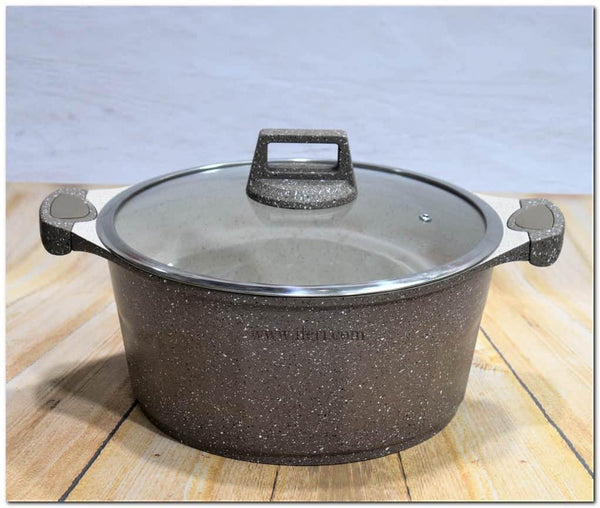 24cm Marble Coating Non Stick Cookware With Lid TG2402