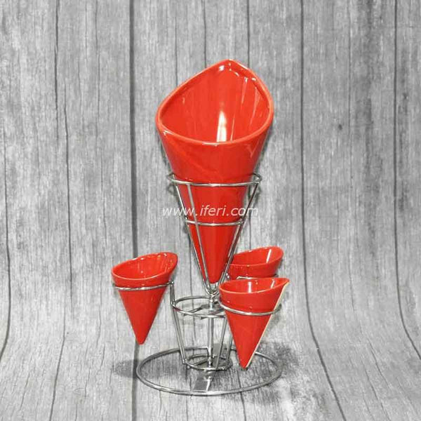 Revolving French Fry Cone with Dipping Bowl SH9521