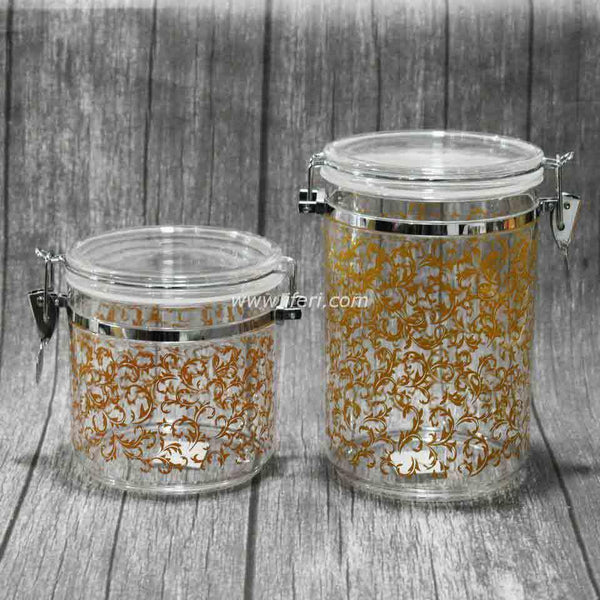 2 Acrylic Air-tight Cookie Jar Set SH2665