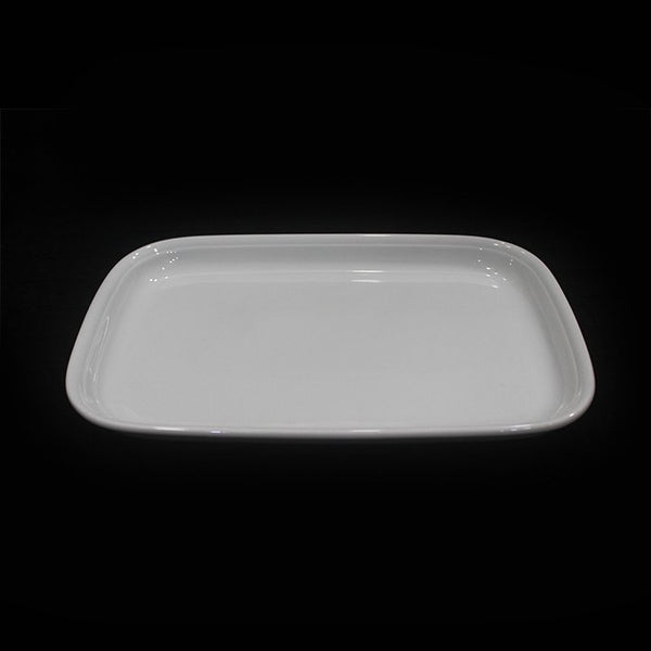 14 inch White Ceramic Rice Serving Plate SN8391 - iferi.com