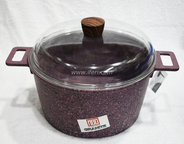 28cm Non Stick Granite Coated Cookware with Lid TG1228 - Cookware