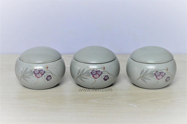 3 Pcs Salt Pepper & Sugar Pot UT1008 - Condiment Holder
