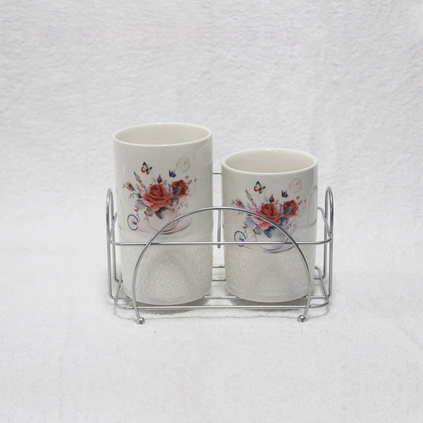 2 Pcs Ceramic Spoon Holder SH15510
