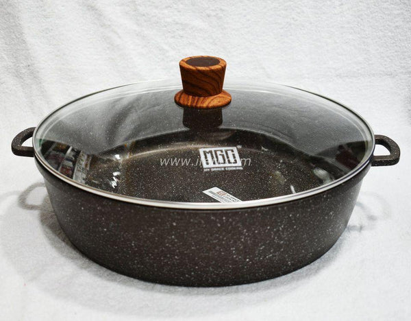 32cm Non Stick Granite Coated Cookware with Lid TG1233 - Cookware