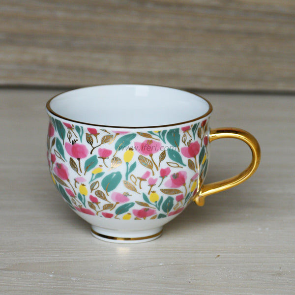 4.5 inch Golden Handle Ceramic Coffee Mug BR1467 - Mug