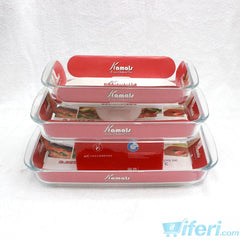 3 Piece Oven Cook Glass Casserole Set KML4252
