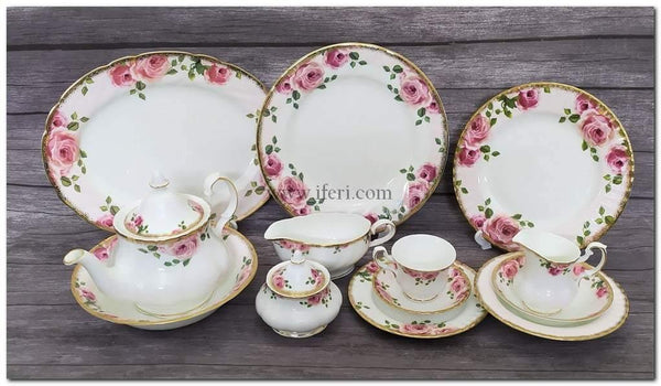 51 Pcs Ceramic Dinner Set UT50510