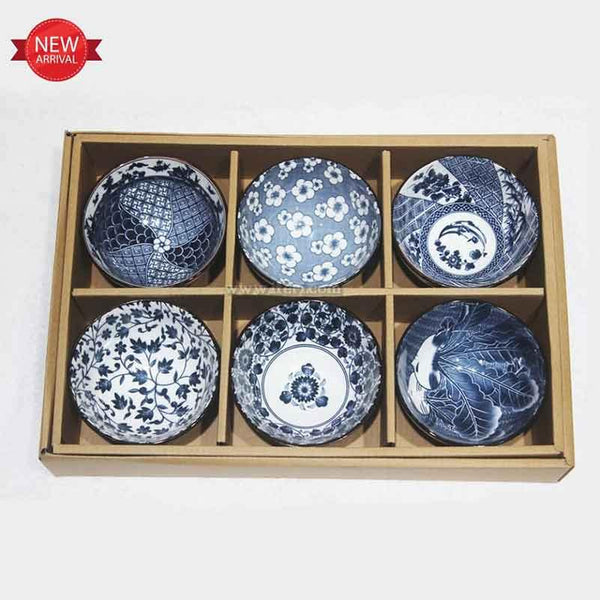 6 Pcs Ceramic Soup Bowl Set GVT9789 - Ceramic Soup Bowl
