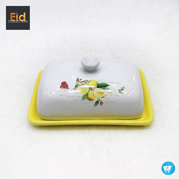 Ceramic Butter Serving Dish With Lid DP6157