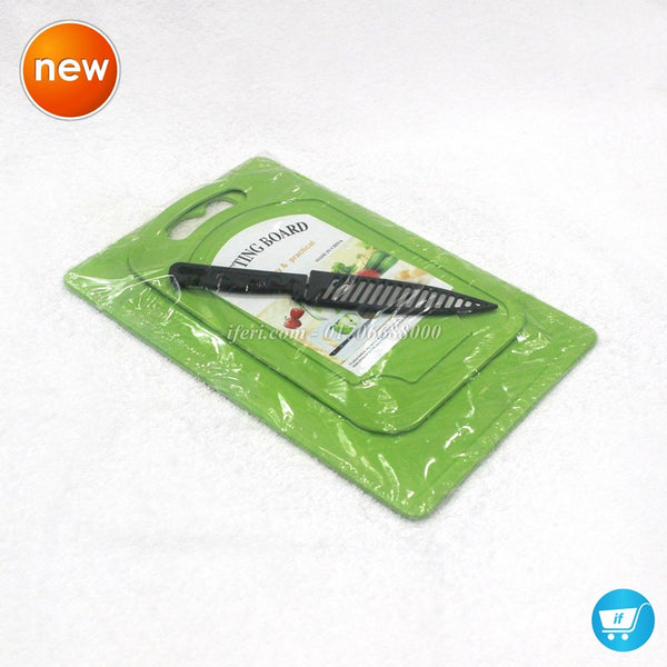 2 pcs Plastic Chopping Board With Knife TG6950