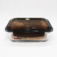 8 inch Glass airtight Lunch Box Container SM7688