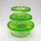3 pcs Set Microwave Oven Heating Lunch Box Healthy Glass Food Container with Lid SM7683
