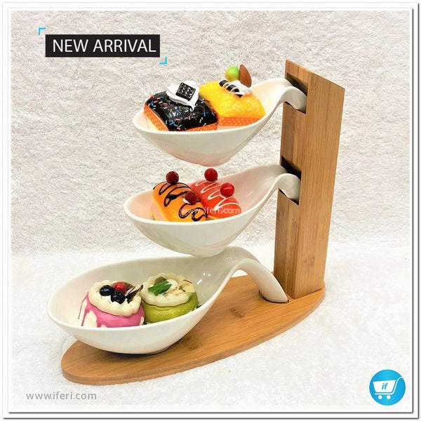 3 Layers Fruit Candy Tray/ Appetizer Snacks Cake Platter DP2222