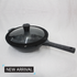 30 cm Marble Coated Cookware Frying Pan with a Large Glass Lid RH7883