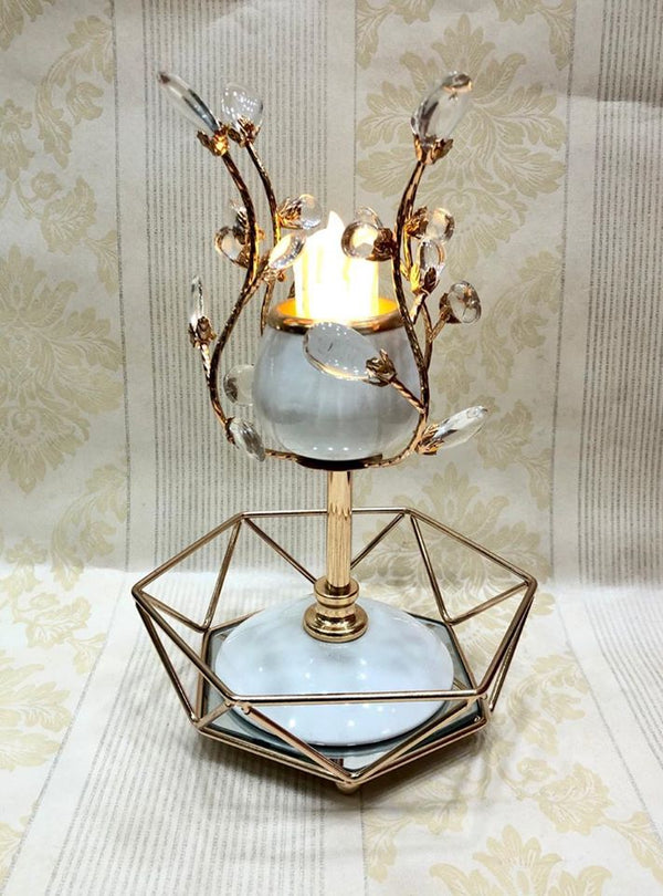 Decorative Candle Stand with Tray DP47244