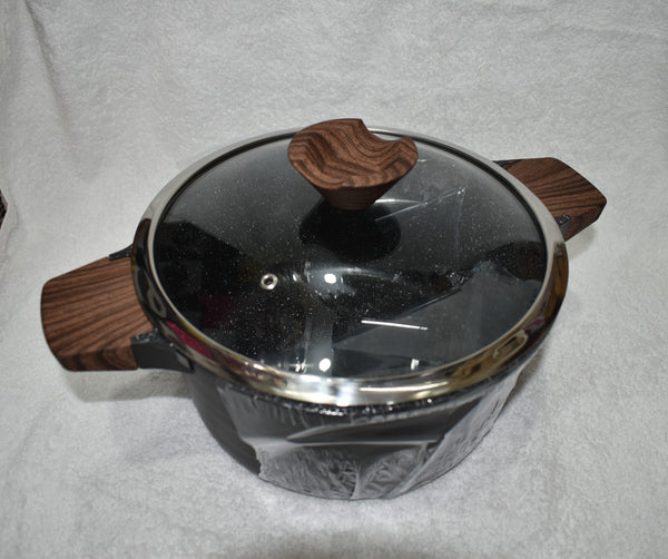 26cm Marble Coating Non Stick Cookware With Lid RY6589