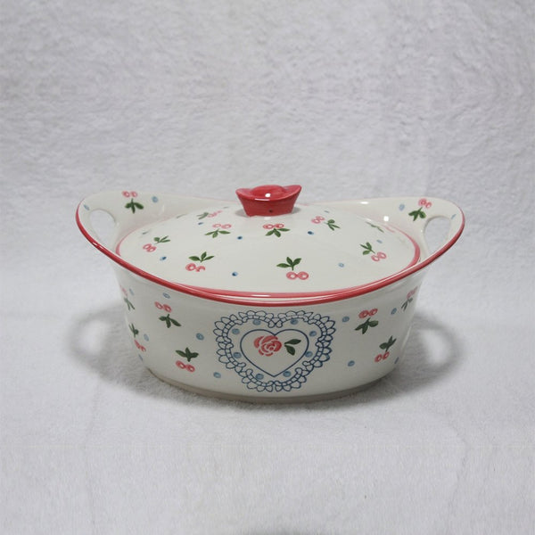 Ceramic Curry Dish with Ceramic Lid SH91221 - Serveware
