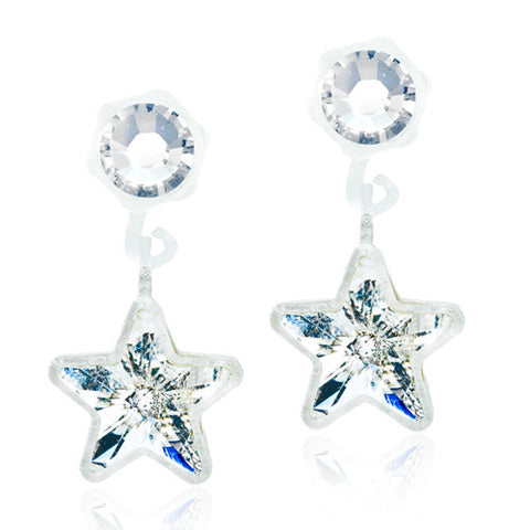 Star 4/6mm Pendants - 0% Nickel Free Medical Plastic