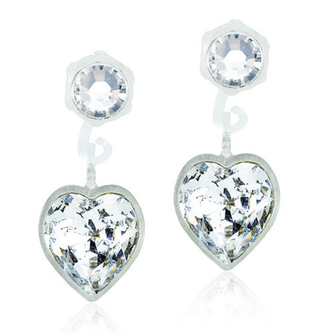 Heart Crystals 4/6mm Pendants - 0% Nickel Free Medical Plastic