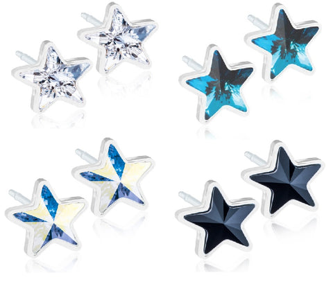 Star Crystals 6mm - 100% Nickel Free Medical Plastic