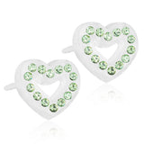 Brilliance Heart Hollow 10mm -100% Nickel Free Medical Plastic Earrings