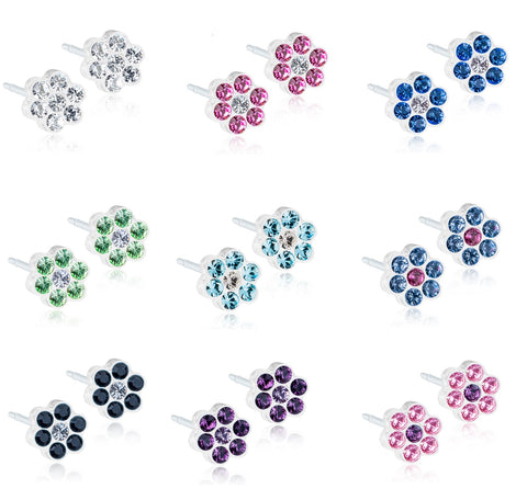 Daisy 5mm - 100% Nickel Free - Medical Plastic Earrings