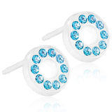 Brilliance Puck Hollow 8mm - 100% Nickel Free Medical Plastic Earrings