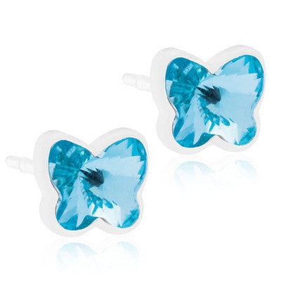 Butterfly Earrings 5mm - 100% Nickel Free Medical Plastic