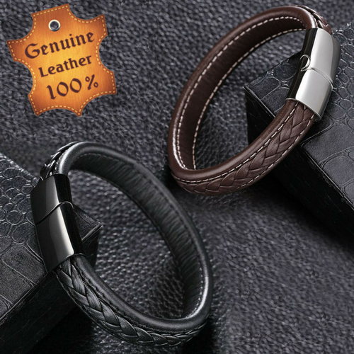 Men's Genuine Leather Bracelet Classic Style