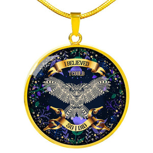 I BELIEVE I COULD SO I DID | WISDOM OWL | LUXURY NECKLACE & BANGLE