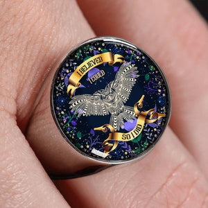 I BELIEVE I COULD SO I DID | WISDOM OWL | LUXURY RING