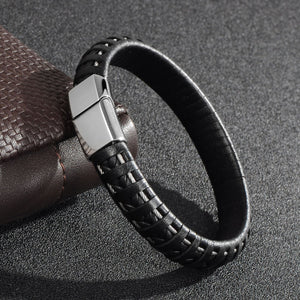 Vintage Stylish Genuine Leather Men's Bracelet
