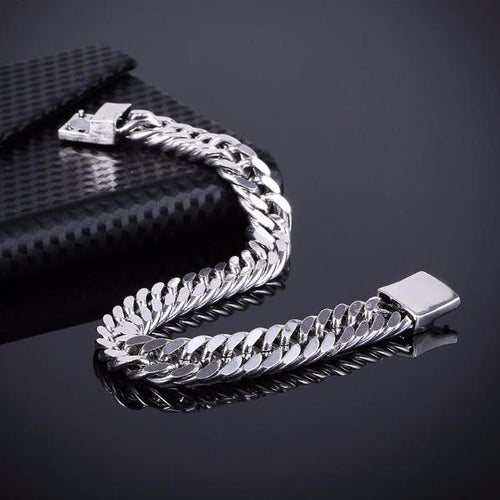 Classic  Link Chain Silver Bracelet