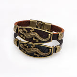 Lizard Leather Charm Bracelet