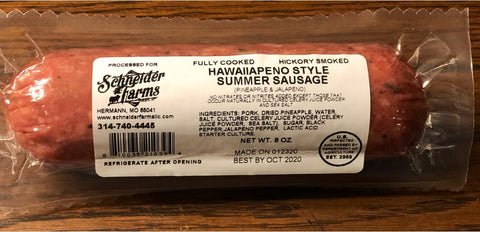 Hawaiiapeno Summer Sausage