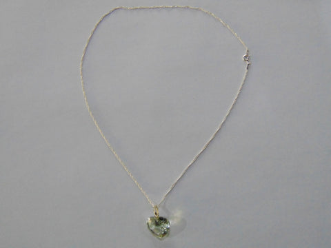 Silver Necklace With 15ct Prasiolite