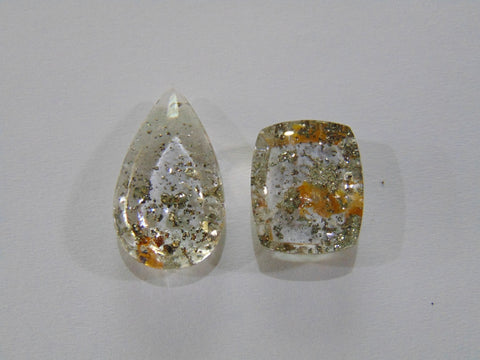34.20ct Quartz (Pyrite)