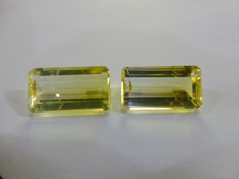 32.40ct Quartz (Bicolor) Pair