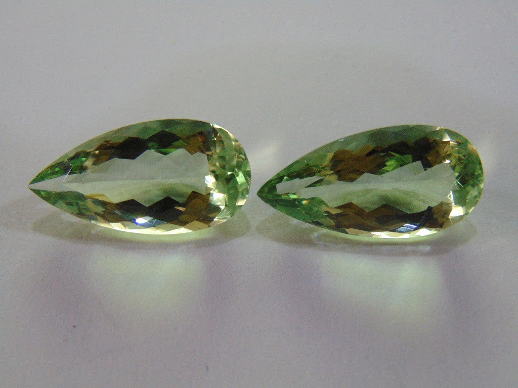 52ct Prasiolite (Pair)