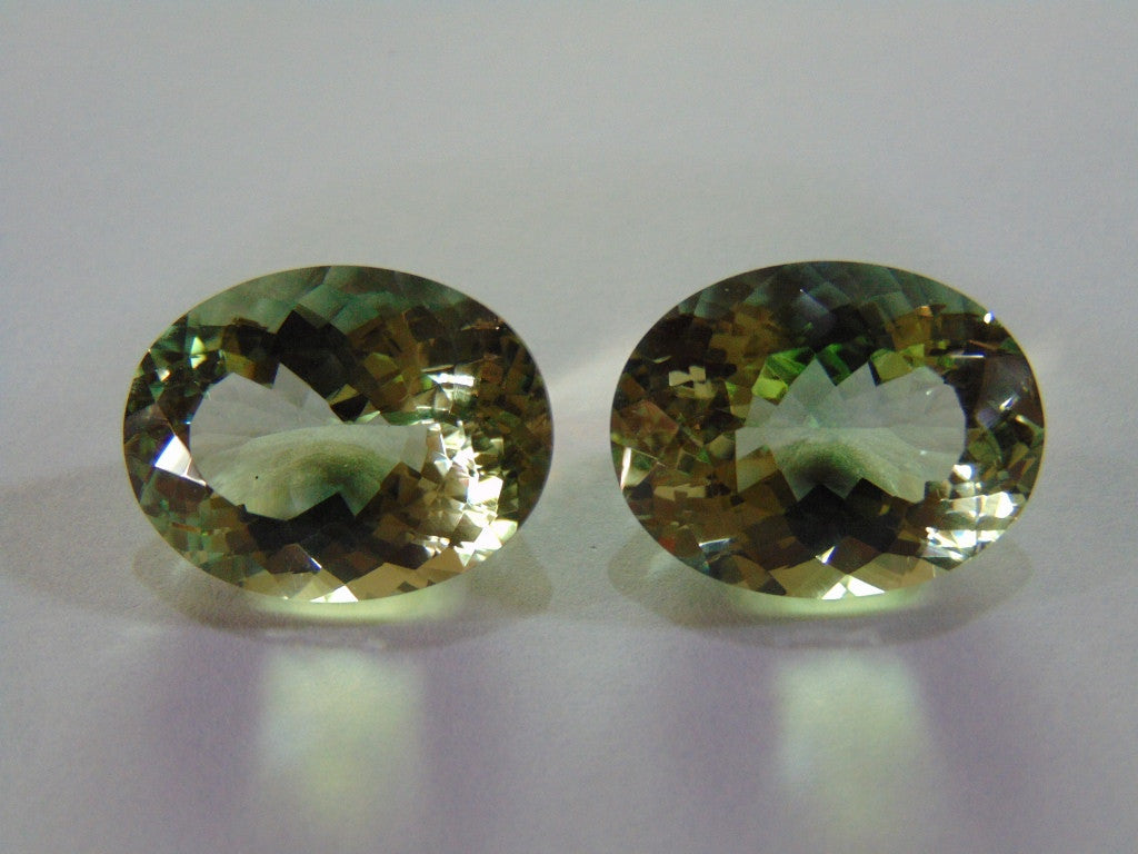 57ct Prasiolite (Pair)