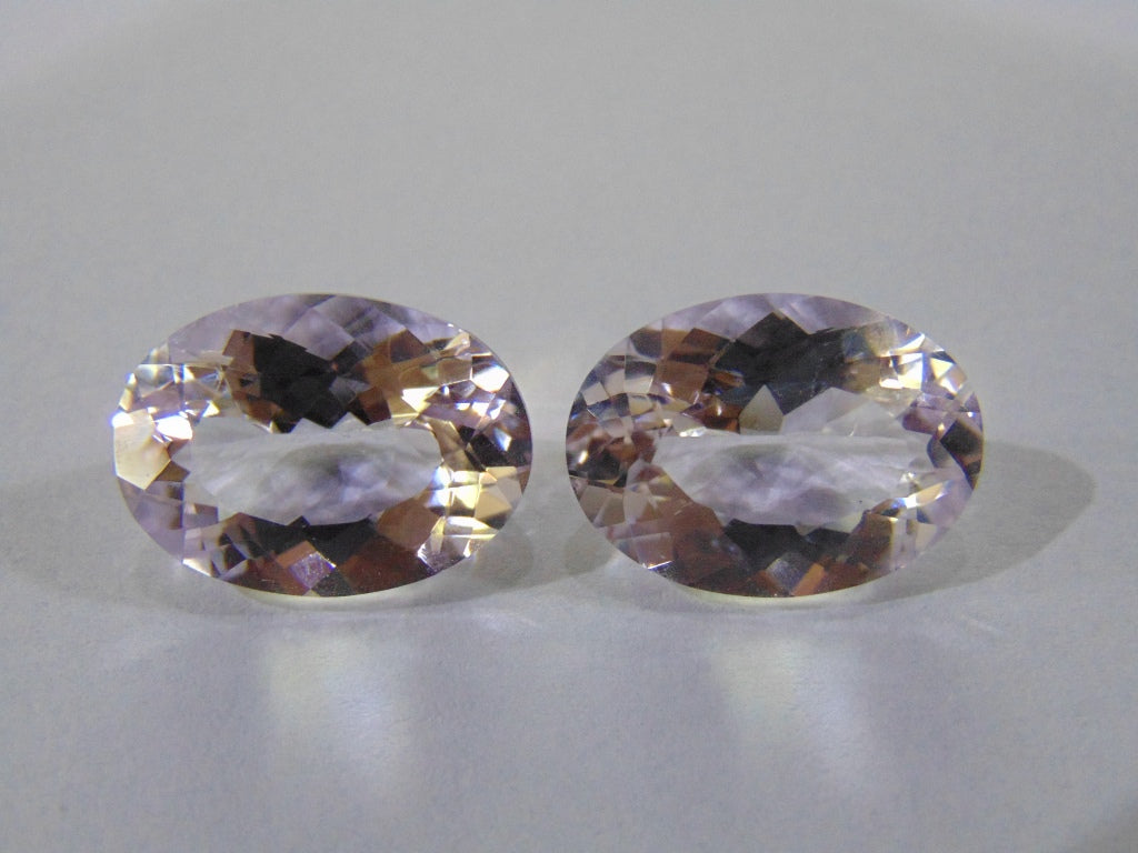 29.30ct Amethyst (Rose France) Pair